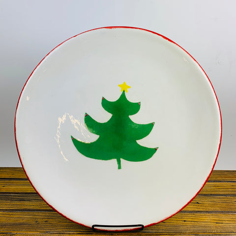 Platter with Christmas Tree Design