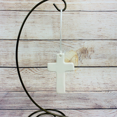 White Cross Ornament