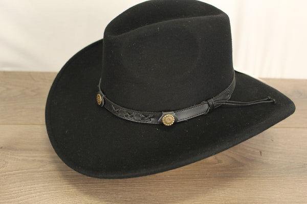Felt Hat Crushable Black