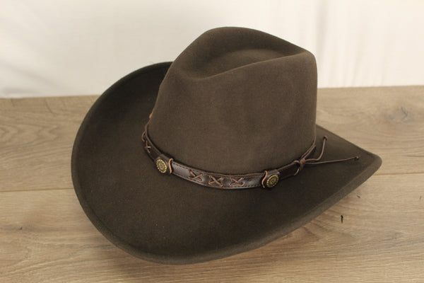 Felt Hat Crushable Brown