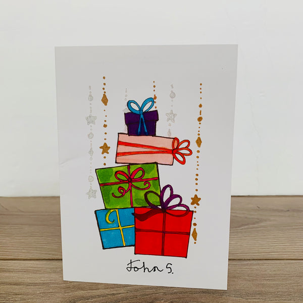 Holly Presents - Pack of 10 Cards