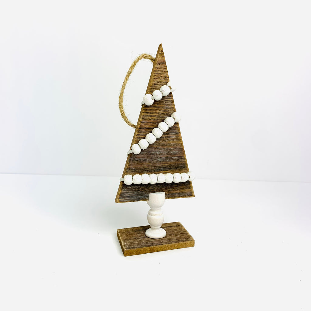Wooden Christmas Tree with Beads