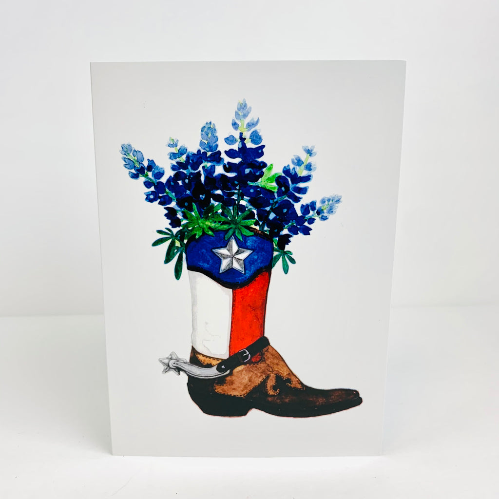 Texas Botth Blueboneth Note Card - Pack of 10