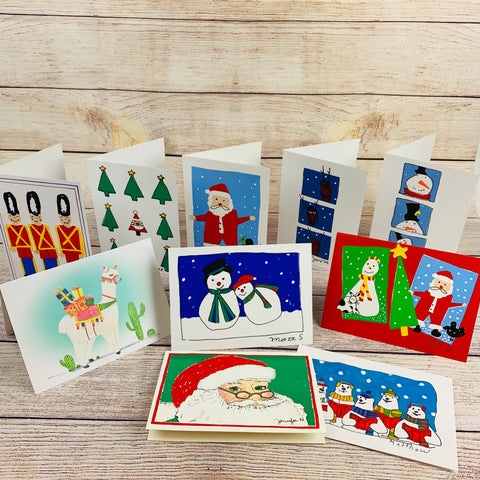 Assorted Christmas Cards - Pack of 10