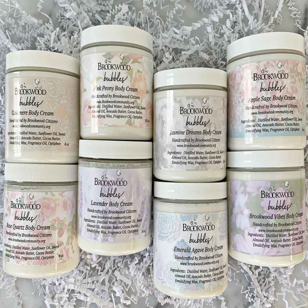 Body Cream Brookwood Bubbles - Rose Quartz