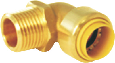 "Lead-Free, Brass Push-Fit Male Elbows 3/4"" [5pk, 10pk, 25pk] - Alfa Heating Supply"