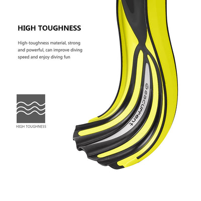 Seacurrent Scuba Diving Fins, Open Heel Adjustable Split Fins, for  Adult Men Womens  All Diving and Snorkeling(Yellow) - Alfa Heating Supply