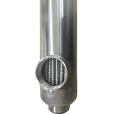 "Swimming Pool Heat Exchanger - 155K SS316L Opposite Side 1 1/2"" & 1"" FPT - Alfa Heating Supply"
