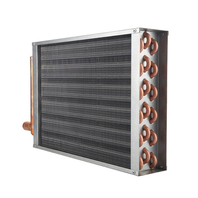 "Air to Water Heat Exchanger 18x18 1"" Copper Ports - Alfa Heating Supply"