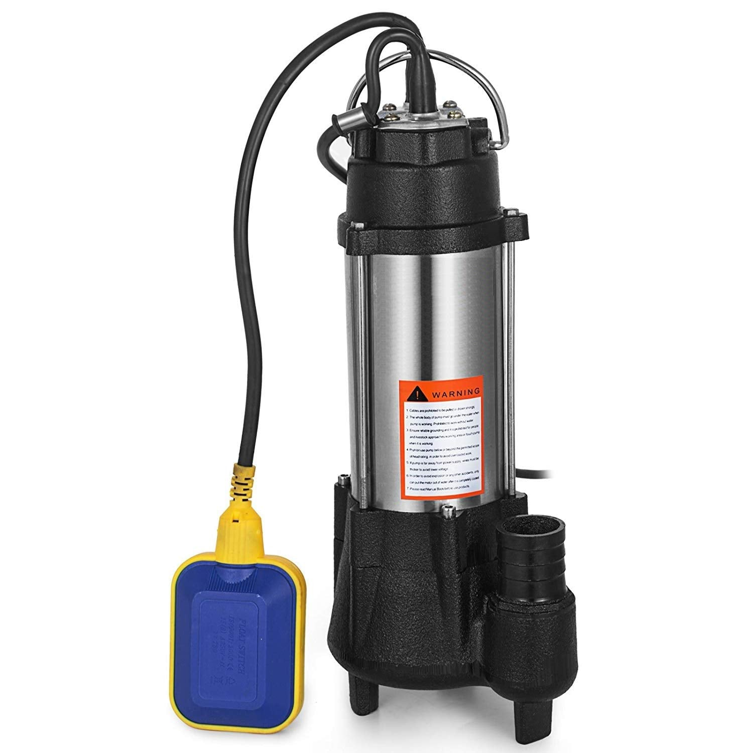 Submersible Heavy Duty Cast steel Sewage Pump 0 5HP Electric Removal for  Clean Dirty Water Transfer With 20FT Cable & Plug