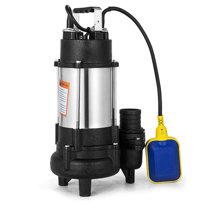 Submersible Water Pump Heavy Duty Cast steel Sewage Pump 1HP Electric Removal for Clean Dirty Water Transfer With 20FT Cable & Plug