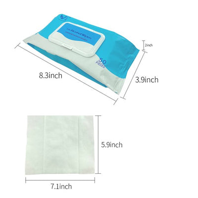 50 PCS Wipes(2 Pack), Cleansing Wipes, Disposable Wipes