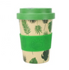 300ML Bamboo Fiber Bamboo Fibre Reusable Degradable Coffee Cup Coffee Mug with Silicone Lid and Sleeve