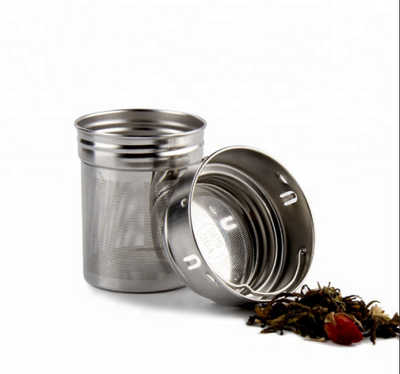 Leak-proof BPA-Free Wide Mouth Double Wall Stainless Steel Bamboo Tumbler with Tea Infuser & Strainer