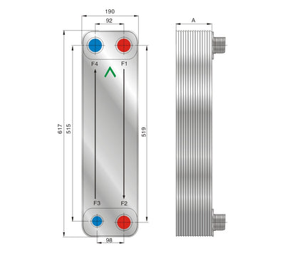 Brazed Plate Heat Exchanger for Air Dryer BL95 Series - Alfa Heating Supply