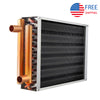 "Air to Water Heat Exchanger 18x18 1"" Copper Ports"