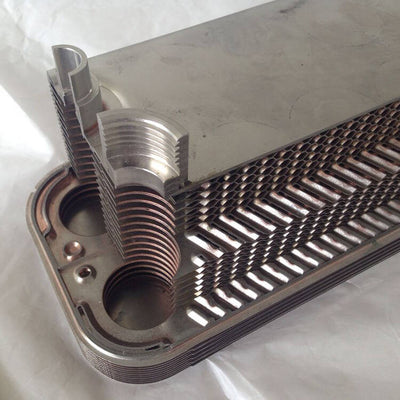 "Evaporator BL50D Plate Heat Exchangers for Evaporation 1 3/8"" NPT R22 35/35mm"