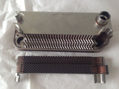"Condensers BL26 Brazed Plate Heat Exchangers for Condensation 1"" NPT Soldering 24mm"