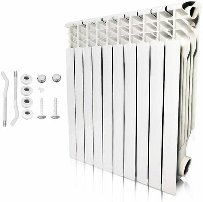 Wall Mounted Aluminum Radiator Heater 10 Sections for Room Heating, Hot Water System
