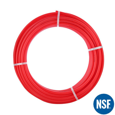 "PEX Pipe 1/2"" 300ft Coil EVOH Oxygen Barrier - Red - Alfa Heating Supply"