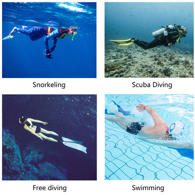WiseWater Snorkel  Set, Anti-Fog Tempered Glass Adult &Kids Snorkeling Gear with Aluminum alloy Frame, Roll Up Flexible Snorkel tube for Snorkeling/Free Diving& Scuba Diving(Blue) - Alfa Heating Supply
