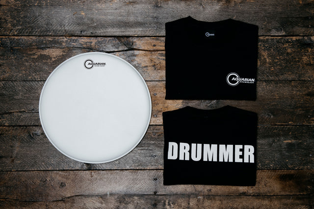 "Texture Coated 14"" & Drummer T-Shirt Pack"