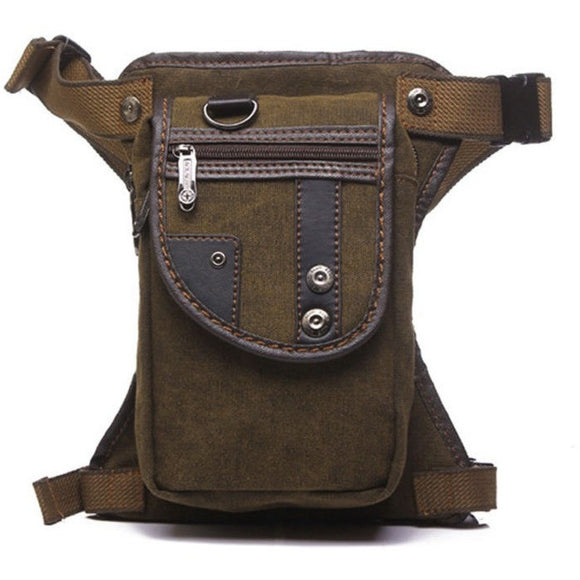 Men Canvas  Waist Thigh Drop Leg Bag