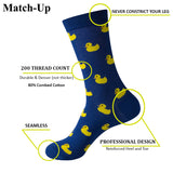 Match-Up  Men's Combed Cotton Novelty Socks (10 Pairs)