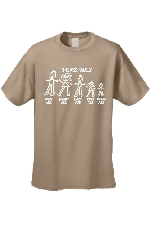 Men's/Unisex Funny Meet The Ass Family!  Short