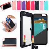 IPHONE MIRROR & WALLET CASE - 7 COLORS!
