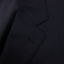LNWOT Ralph Lauren Black Label Navy Blue Wool Pinstriped F. Front Suit 2Btn 46R