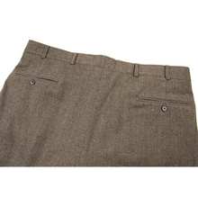 Brooks Brothers Brown Wool Donegal Soft Tweed Pleated Trouser Pants 36W