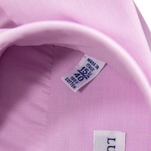 NIB Luca Avitable Pink Cotton End-on-End MOP Spread Dress Shirt 40EU/15.75US