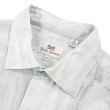 CURRENT Hickey Freeman Cloud Grey Linen Spread Collar Dress Shirt XXL/19US