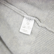 Loro Piana Cloud Grey 100% Cashmere Knit Piped Turtleneck Sweater 50EU/Medium