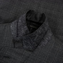 NEEDS TO BE TAILORED Brioni Palatino Charcoal Grey Wool Glen Plaid Vented Pleated Front 2Btn Suit 40R