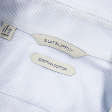 Suitsupply Ice Blue Cotton Woven Slim Fit Cut Away Collar Dress Shirt 14.5US
