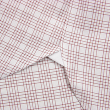 Zegna Brick Red Cotton Checked Custom MOP Spread Collar Dress Shirt 17US