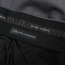 Ralph Lauren Black Label Grey Wool Puppy Houndstooth Side Tabs F Front Pants 37W