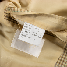 LNWOT Brioni Nomentano Brown Wool Check Plaid Top Stitch Dual Vents Jacket 42R