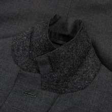 Jonathan Quearney Bespoke Slate Grey Wool Woven Dual Vents 2Btn Suit 38R