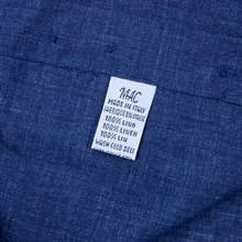 Malo Denim Blue Linen Slubby MOP Buttons Semi-Spread Dress Shirt 16.5US