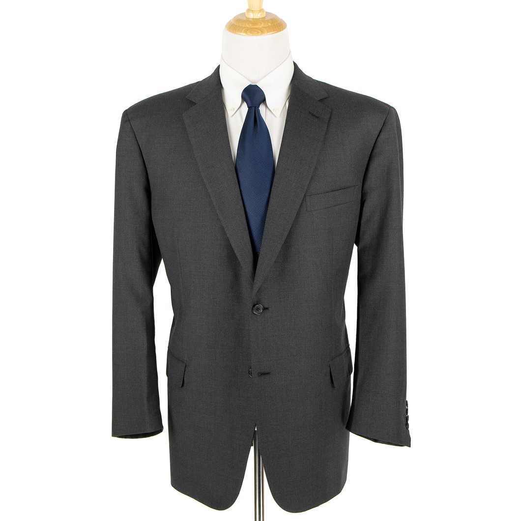 CURRENT Brioni NM Colosse Slate Grey Wool Woven Dual Vents 2Btn Suit 50L