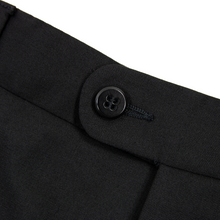 Zanella Todd Jet Black Wool Twill Half Lined Flat Front Dress Pants 33W