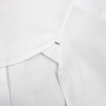 Z Zegna White Cotton Tommaso Slim Fit MOP Semi-Spread Dress Shirt 39EU/15.5US