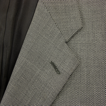 Burberry Black White Wool Nailhead Lined Dual Vents Pleated Front 2Btn Suit 42R