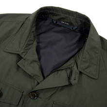 NWT $1995 Zegna Pine Green Microfiber Unstructured Glossy Field Jacket 48R