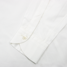 NWT Zegna Couture White Cotton MOP 1/2 Btn Spread Pullover Shirt 39EU/15US