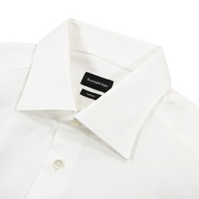Zegna White Trofeo Cotton MOP Buttons Spread Collar Dress Shirt 44EU/17.5US