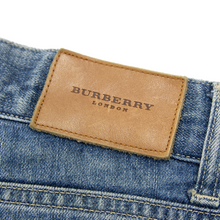 Burberry London Blue Denim Washed 5-Pocket Straight Jeans 30W